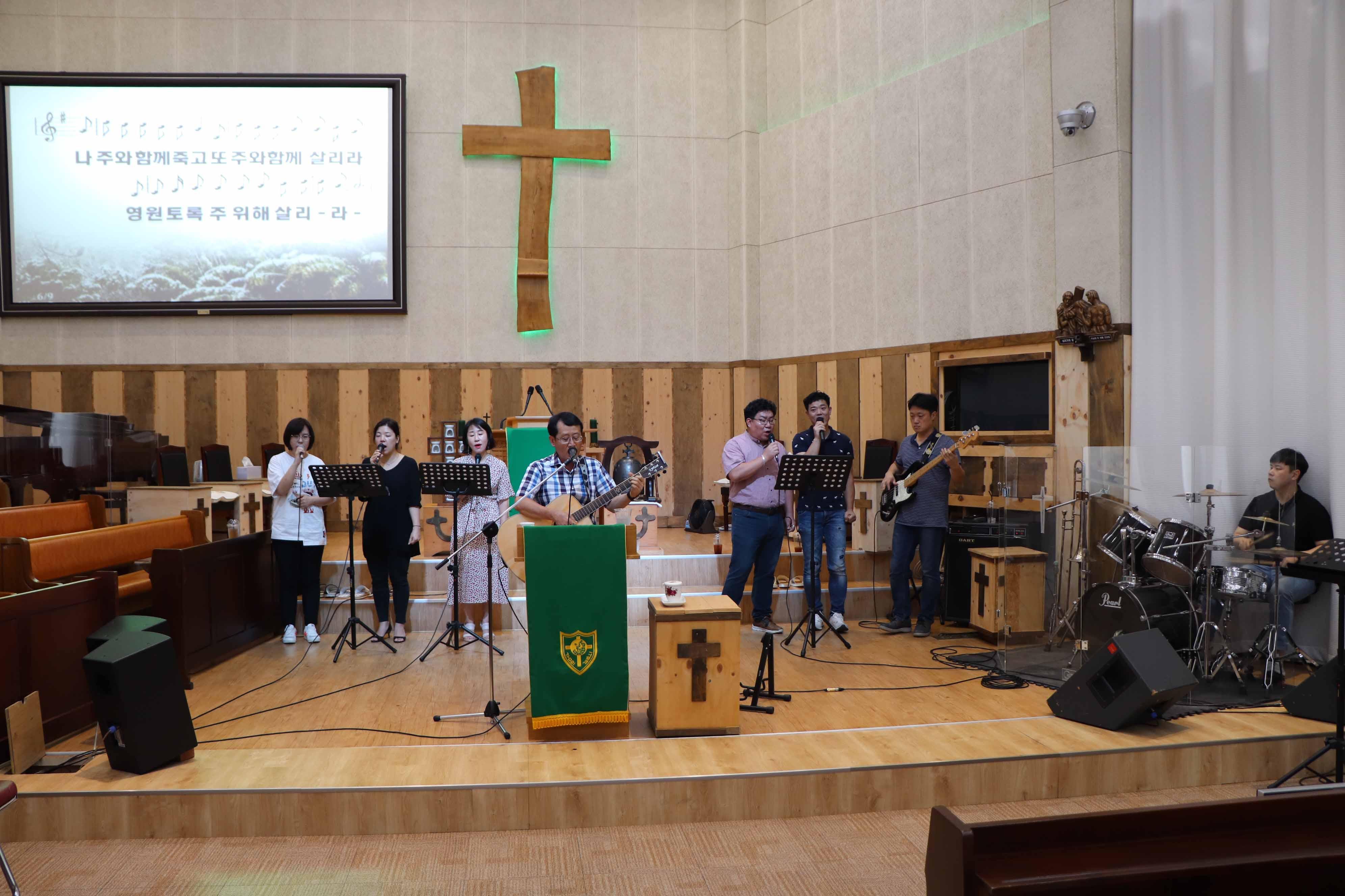 8월 18일 주일 오후 밀알속 헌신 예배